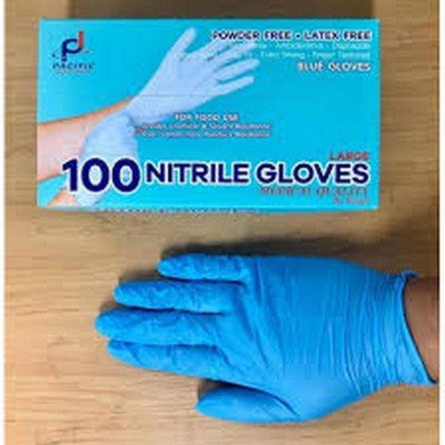Gloves Nitrile Blue Powder Free